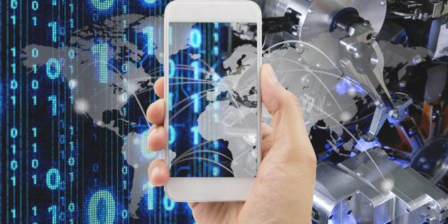 Symbolbild zum Thema Kommunikation via 5G und Industrielles Internet