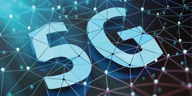 5G Grafik mit Netzstruktur für den Bericht der Bundesregierung
